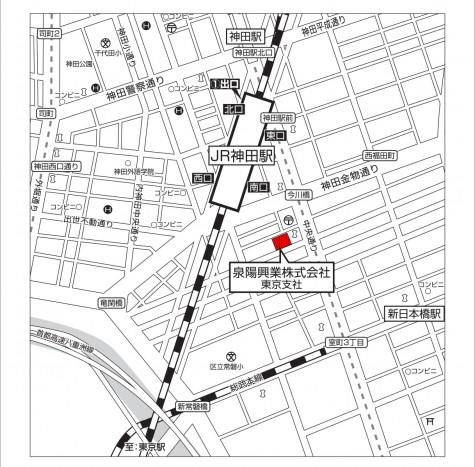 東京支社移転案内図