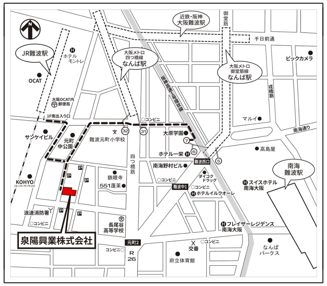 大阪本社地図